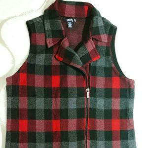 CHAPS Plaid Vest- Size XL